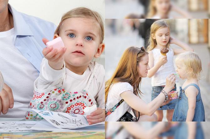 วิธีการรับมือลูกหวงของ  ด้วยการสอนให้ลูกรู้จักการแบ่งปันบ่อยๆ